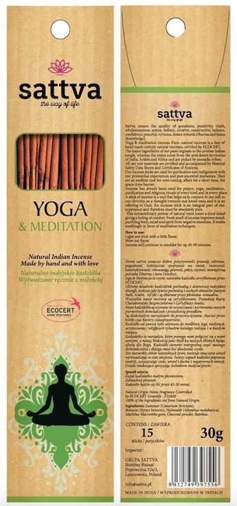 Füstölő, Jóga és meditáció
